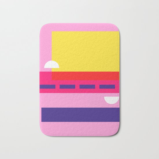 Bright Abstract I Bath Mat