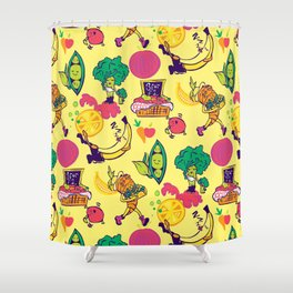 Busy Veggies Shower Curtain