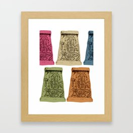Pictish Stone - Abernethy Framed Art Print
