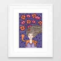 alisa burke Framed Art Prints featuring Alisa by Natalia Illarionova