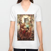 discount V-neck T-shirts featuring Jizo Bodhissatva by Christina Hess