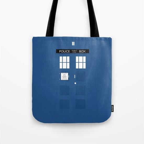 Tardis - Minimalist Tote Bag