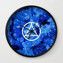 Sapphire Candy Gem Wall Clock