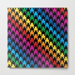 Rainbow Cats Hounds Tooth Metal Print