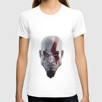video games T-shirts featuring Triangles Video Games Heroes - Kratos by s2lart