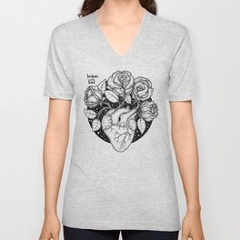 Blossom that Blooms in the Heart Unisex V-Neck