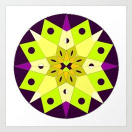 Circle Star Mandala #1 Art Print
