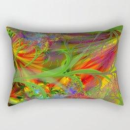 A Field 0f Wild Flowers Abstract Rectangular Pillow