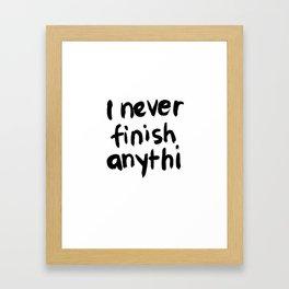 Finish Framed Art Print