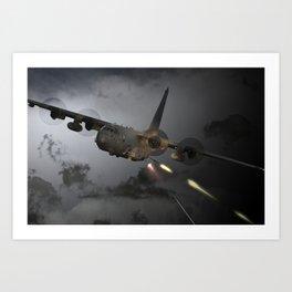 AC-130 Spooky  Gunship Art Print