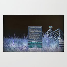 Beach Access And Rules Rug