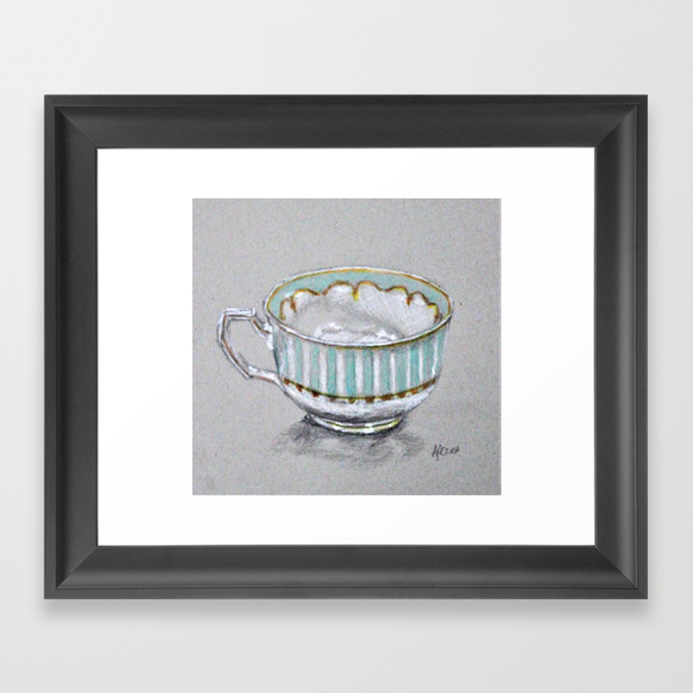 A Cup Of Tea Framed Art Print by Afekwo FRM8785165