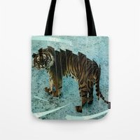 camouflage Tote Bags featuring Camouflage by Peter Campbell