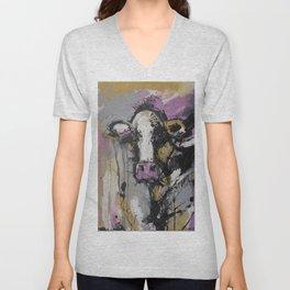 New Breed Cow 1 Unisex V-Neck
