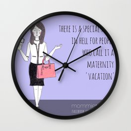 Mommie Pickles - Maternity Vacation Wall Clock