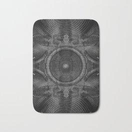 Black and white music speakers Bath Mat