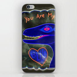 You Are My Blue Dinosaur iPhone Skin