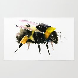 Bumblebee, bee art, bee design, minimalist bee honey Rug