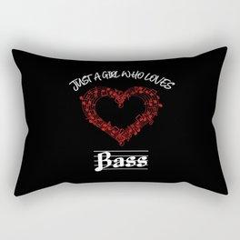 Just A Girl Who Loves Bass Rectangular Pillow