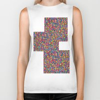 mosaic Biker Tanks featuring Mosaic by Juliana Kroscen