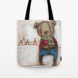 Cozy Bear Boy Tote Bag