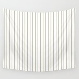 Silver Moss Pinstripe on White Wall Tapestry