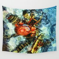 bioshock Wall Tapestries featuring Bioshock Big Sister by Joe Misrasi