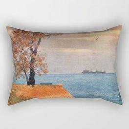 Autumn by the sea Rectangular Pillow