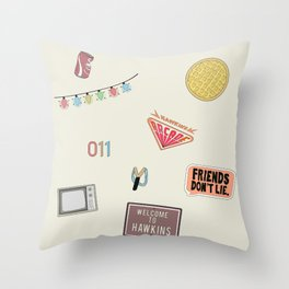 Welcome to Hawkins 2 Throw Pillow
