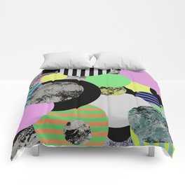 Cluttered Circles - Abstract, Geometric, Pop Art Style Comforters