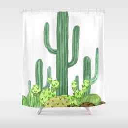 Cactus Desert Shower Curtain