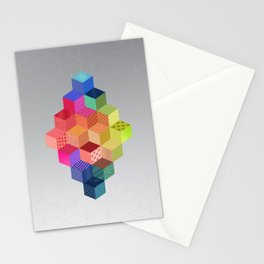 RAINBOW GEOMETRY Stationery Cards