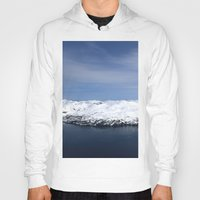 alaska Hoodies featuring Whitter, Alaska by Chris Root