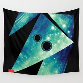 Dog Exploring Space Wall Tapestry