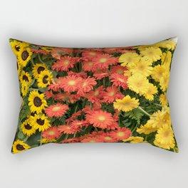 Sunflowers and Gerberas Rectangular Pillow