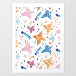 Summer Flock  Art Print