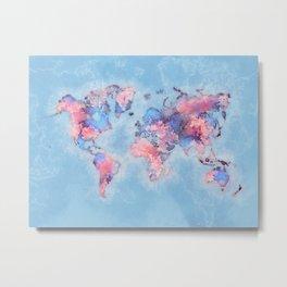 world map 110 #worldmap #world #map Metal Print