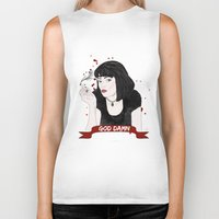 mia wallace Biker Tanks featuring Pulp Fiction's Mia Wallace by raeuberstochter