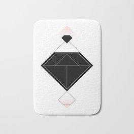 Tangram Diamond Linework Black Bath Mat