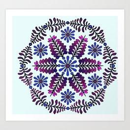 Chicory  Mandala Art Print