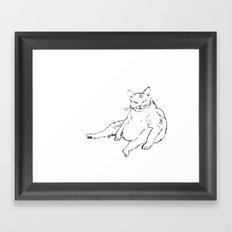 Fat Cat illustration Framed Art Print