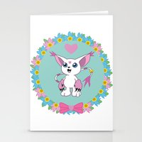 digimon Stationery Cards featuring Girly Gatomon by hannahroset