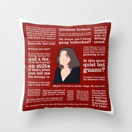 The Thick of It - Nicola Murray Throw Pillow