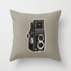 Rolleicord Throw Pillow