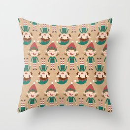 Santa's Elven Slaves I (Patterns Please) Throw Pillow