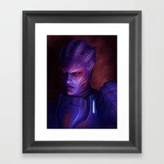 Mass Effect: Captain Wasea Framed Art Print