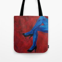 legs Tote Bags featuring Legs by Sian Blackman