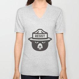 Bear Hat is Resist Unisex V-Neck