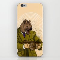 gangster iPhone & iPod Skins featuring Gangster Hyena by Ichorteeth