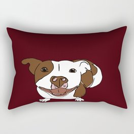 Celia Mae The Pit Bull Rectangular Pillow